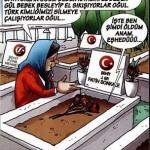 Karikatür – Türkiye'de terörle mücadelede şehit olan askerlerin kemikleri sızlıyor