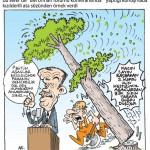 Karikatür – Hem ağaç kesip, ağacın kesilmesine karşı olmak…
