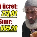 Asgari ücret 773, açlık sınırı 995 lira