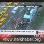Yüzbinler Ankara'da Erdoğan'la yürüyor