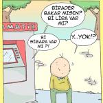 Karikatür – Bankamatik işlem yapmak için ücret istiyor