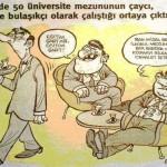 Karikatür: TBMM'de 50 üniversite mezunu çaycı, odacı ve bulaşıkçı gibi işlerde çalıştırılıyor