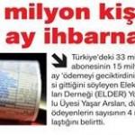 Türkiye'de 33 milyon elektrik abonesinden 15 milyonu faturasını ödeyemiyor