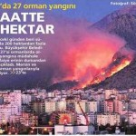 Antalya'da 27 orman yangınında 200 hektar kül oldu