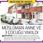 İngiltere'de müslüman anne ve 3 çocuğu evlerindeyken yakıldı