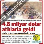 Suriye'den çalınan paralar Türkiye'ye getiriliyor