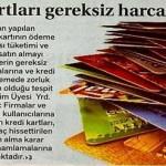 Kredi kartları gereksiz harcama tuzağı…