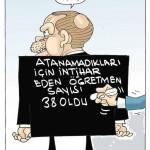 Karikatür – Atanamadığı için intihar eden öğretmen sayısı 38'e çıktı