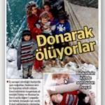 """Yeni Şafak'ın Suriye'de """"Donarak ölüyorlar"""" diye manşet yaptığı fotoğrafın Türkiye'de çekildiği ortaya çıktı"""