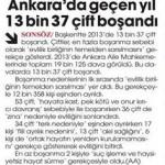 Ankara'da geçen yıl 13037 çift boşandı