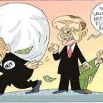 Karikatür – Suriye'de savaşın bütçesini MİT'e, Türkiye'deki eğitimin bütçesini BİT'e yükledik