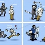 Karikatür – Vatandaşın devlet ile sürdürdüğü hak arama mücadelesi…