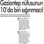 Gaziantep nüfusunun yüzde 10'u sığınmacılardan oluşuyor