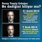 Recep Tayyip Erdoğan ne dediğini biliyor mu?