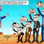 Karikatür – Maskeler düştü, gerçekler yüzler göründü