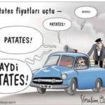 Karikatür – Halkımızın ana yemeği olan patatesin fiyatı uçtu