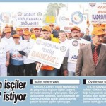 Taşeron işçiler kadro istiyor