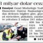 Geçen yıl 13 milyon 24 bin 764 trafik cezası kesildi