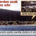 SİT alanına yapılan 8 villadan 2'sinin Erdoğanlar'a verdiği iddia ediliyor