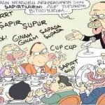 Karikatür – Tayyip ve basındaki mensuplarının son kahvaltısı…