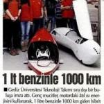 Gençler 1 lt benzinle 1000 km giden araç üretti