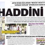 Korsan İsrail utanmadan, çekinmeden Mescid-i Aksa'yı yıkacağını açıklıyor