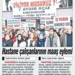 Karabük'te bir özel hastane çalışanlarına maaşlarını ödemiyor
