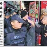 Gençlere gözaltına vatandaş isyan etti!