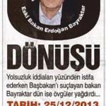 Yılın U dönüşü Erdoğan BAYRAKTAR'tan geldi