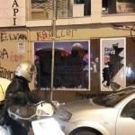 İstanbul, Beşiktaş'taki AKP seçim irtibat bürosu taşlandı