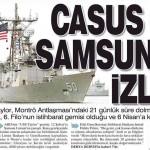 ABD'nin casus gemisi USS Taylor 12 Şubat'tan beri Samsun'da bulunuyor