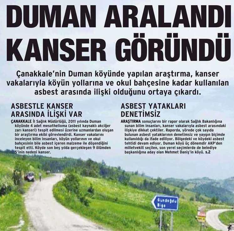 T�rkiye'de kansere neden olan asbestli malzemeler neden ...