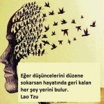 Eğer düşüncelerini düzene sokarsan hayatında geri kalan her şey yerini bulur