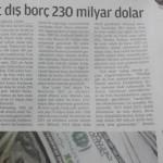 IMF'ye borç veriyoruz diyenlere duyurulur: Türkiye'nin net dış borcu 230 milyar dolar