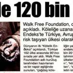 Türkiye'de 120000 köle var!