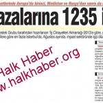 Türkiye iş cinayetlerinde Avrupa'da birinci, Dünya'da üçüncü…
