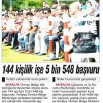 144 kişilik işe 5548 kişi başvurdu