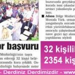 32 kişilik geçici işe 2354 kişi başvurdu