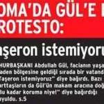 Soma halkı koruma ordusuyla gelen cumhurbaşkanına tepki gösterdi