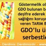 TARIM BAKANLIĞI GDO'lu ürünleri serbestleştirdi