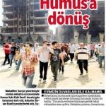 Suriye'nin Humus kentine halk dönmeye başladı