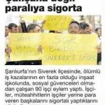 Siverek'te sigortasız çalıştırılan inşaat işçileri eylem yaptı