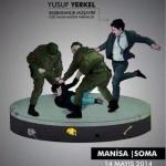 Başbakan müşaviri Yusuf YERKEL yere düşen vatandaşı tekmeliyor