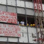 Adalet Bakanlığı'nın inşaatında çalışan işçiler: 4 aydır maaş alamıyoruz