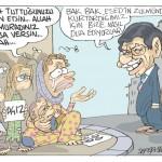 Karikatür – Türkiye'nin yerlerinden ettiği Suriyeliler zor durumda…