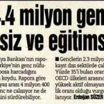 Türkiye'de milyonlarca genç boşu boşuna vaktini geçiriyor