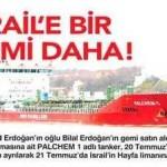 Gemiler sürekli Türkiye'den İsrail'e mal taşıyor