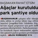 Başbakanlık çalışma ofisi için park alanı şantiyeye dönüştürüldü