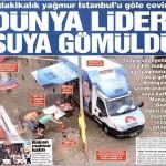 5 dakikalık yağmur İstanbul'u göle çevirdi