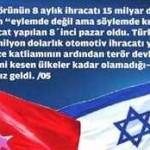 Korsan İsrail ile Türkiye'nin ticareti her alanda artıyor
